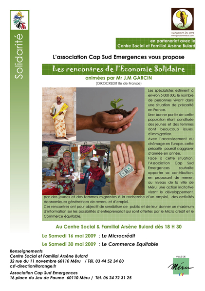 Invitation économie sociale solidaire, édition 2009