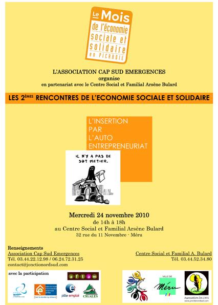 Invitation Economie Sociale et solidaire, édition 2010