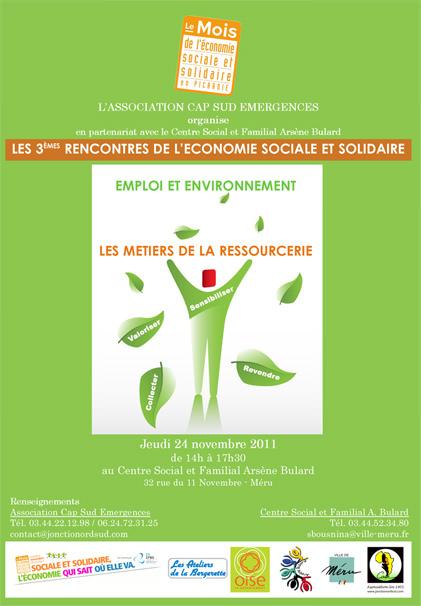 Affiche Economie Sociale et Solidaire, édition 2011