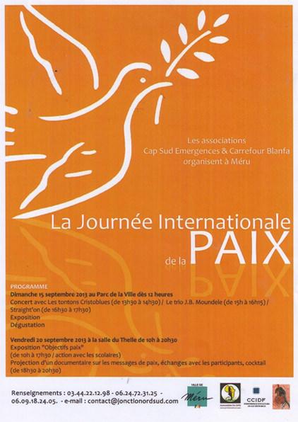 Affiche JOurnée de la Paix, 2013