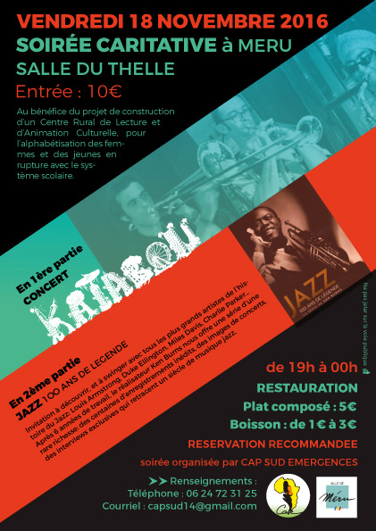 soirée caritative, semaine de la solidarité, 2016, meru, concert, jazz