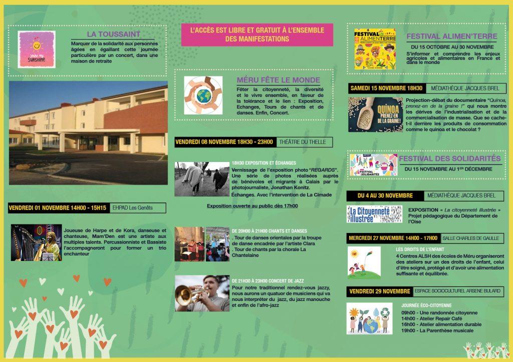 Mois Festivités Citoyennes, Méru, Cap Sud Emergences, Solidarité, Programme 2019, Cap Sud Emergences